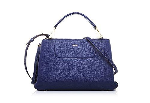 bonia-womans-blue-guilietta-satchel-m-one-size