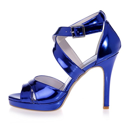 L@YC 5915-30 Women's High Heels Leatherette PU Hollow Smooth Sandals Party & Evening Gown & Peep Toe/Party Gold sVPZIgsSG