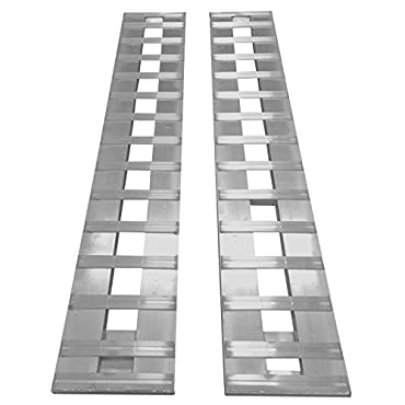 GHR84 Aluminum Trailer Ramps Car ATV truck Ramps 1 pair 2- ramps = 6000lb Capacity 84 long