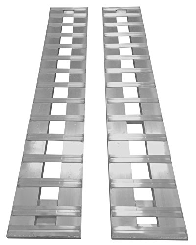 Aluminum Trailer Ramps ATV car Truck ramps 1- Set two ramps = 6000lb Capacity 14' wide 72' long