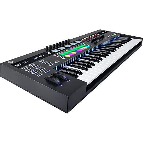 Novation SL MkIII 49-Note MIDI and CV Keyboard Controller/Sequencer with Sustain Pedal (Piano Style), Keyboard Cover…