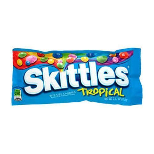 Skittles Tropical Candy Packs 36 Count by The Nutty Fruit House by The Nutty Fruit House