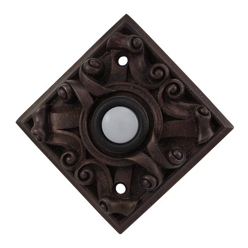 Vicenza Designs D4008 Sforza Square Style Doorbell, Oil-Rubbed Bronze