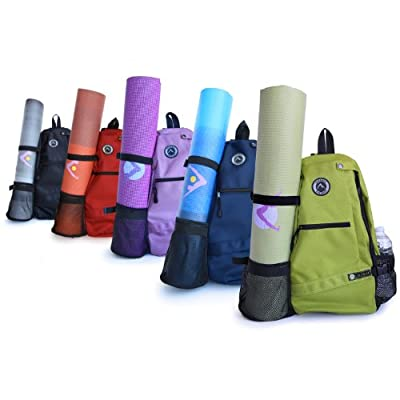 Aurorae Yoga Mat Sport Bag/Multi Purpose Crossbody Sling Backpack. Great for Yoga, Hiking, Biking, Travel,Gym,School/Office, Free Shipping Available by Aurorae