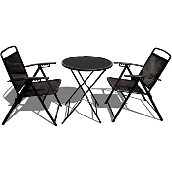 STRONG CAMEL Bistro Set Patio Set Table And Chairs Outdoor Wrought Iron  CAFE Set METAL  Part 64