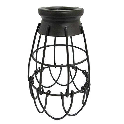 Portfolio 7.25-in H 4.62-in W French Bronze Wire Industrial Cage Pendant Light Shade by Portfolio