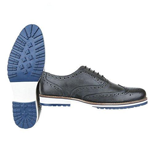 Ital-Design - Mocasines para hombre negro y gris
