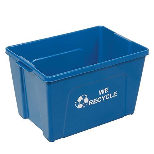 Global Industrial 18 Gallon Recycling Bin, Blue, Plastic