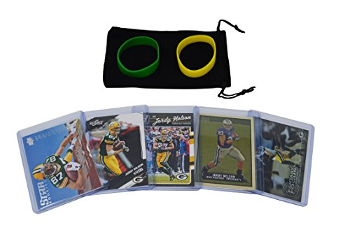 Jordy Nelson Football Cards Assorted (5) Bundle - Green Bay Packers Trading ()