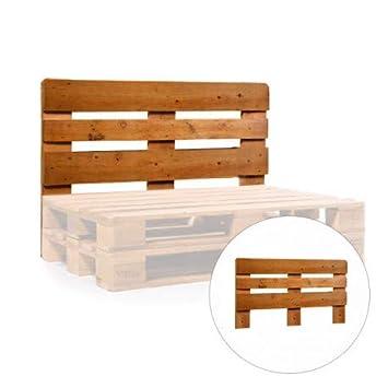 1 x Respaldo de madera para Sofa de Palets color Madera + 15 ...