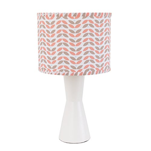 Carter's Woodland Meadow Geo Print Lamp Base and Shade, Peach/Brown/White