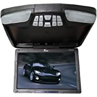Tview T138ADVFD-BK 13-Inch Car Flip Down Monitor with Built-In DVD Player (Black)
