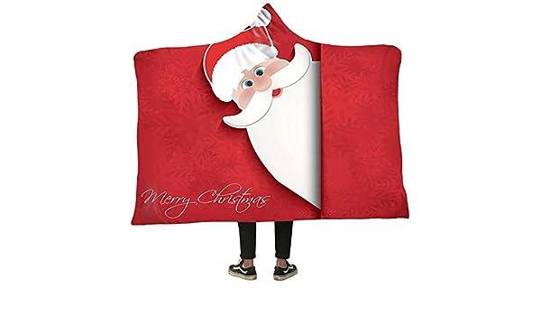 Hinyyee Impreso con Capucha Manta Navidad Invierno Felpa Capa ...
