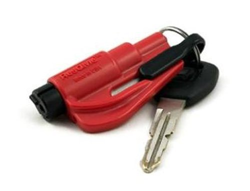 Res Q Me Emergency Rescue Escape Tool Keychain Red