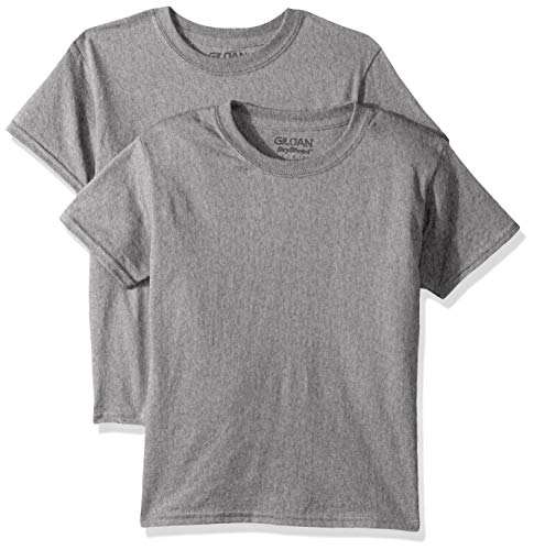 Gildan Kids DryBlend Youth T-Shirt, 2-Pack, Graphite Heather, Large
