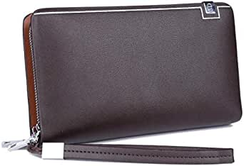 Coffee Leather For Men - Zip Around Wallets