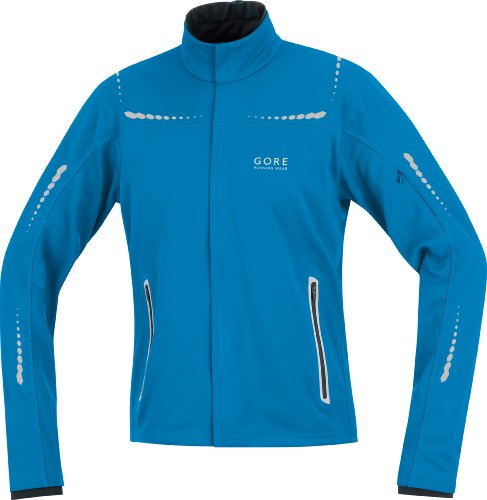 GORE BIKE WEAR Men's Mythos Windstopper Soft Shell Jacket, Splash Blue, Medium
