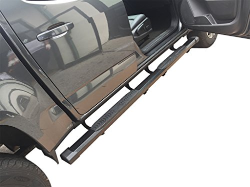 VANGUARD VGSSB-1949-1917BK For Chevrolet Silverado Extended Cab 2007-2018 Running Board Black Polish CB1 Style Step Boards