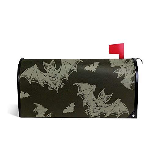 - Mefond Magnetic Mailbox Cover Flying Bat Post Letter Box Wraps Garden Yard Home Decor for Outside Oversized 25.5