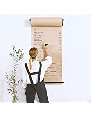 Kraft Paper Roll Display, Wall Mount Distributor Roller Paper Wall Decor for Office Concept Alternative to Whiteboard Coffee Shop Restaurant Menu