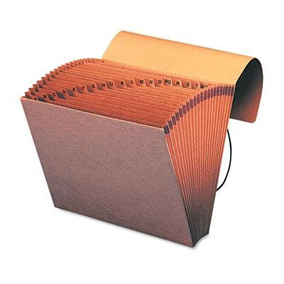 Smead A-Z INDEXED ACCORDION EXPANDING FILES, 21 POCKETS, KRAFT, LETTER, BROWN, 5 EA