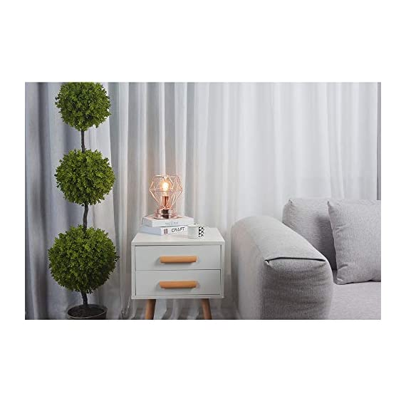 COTULIN Table Lamp,Modern Desk Lamp with Hollow Out Shade for Living Room Bedroom,Rose Gold - Input:AC 110V-120V,max 60W,fits E26 bulb(not included). Cute Size:Height 8.27 inch,diameter 6.70 inch,please note the size. Quality Assurance:Our product focused on modern style and concentrate more on quality,have got the UL certification of US. - lamps, bedroom-decor, bedroom - 41fH0PFzrkL. SS570  -