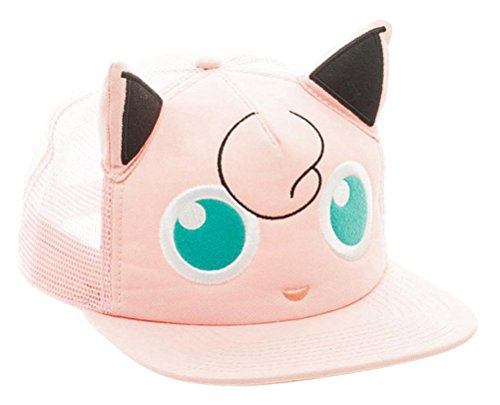 Bioworld Pokémon Jigglypuff Big Face Trucker Snapback Hat ()