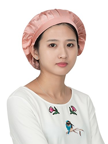 LITHER Natural Silk Sleep Night Cap Head Cover Bonnet for Hair Beauty ()