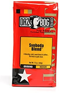 Dazbog Ground Coffee, Svoboda Blend, 12 Ounce