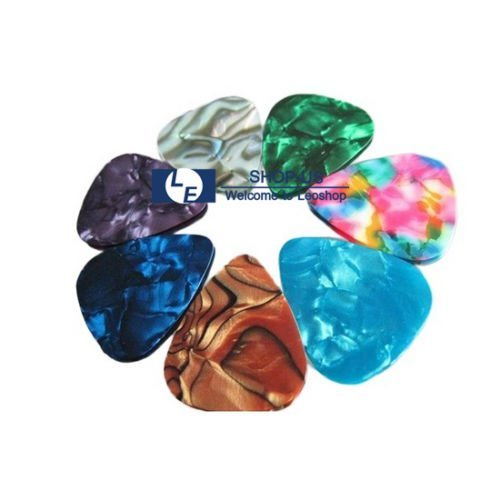 New 100pcs Guitar Picks Acoustic Electric Plectrums Celluloid Assorted - Celluloid Glasses