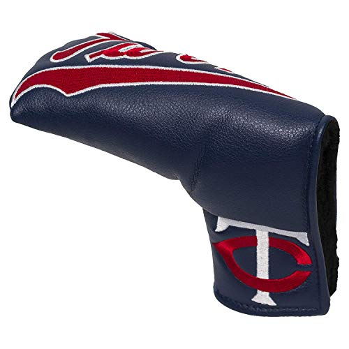 Team Golf MLB Minnesota Twins Golf Club Vintage Blade Putter Headcover, Form Fitting Design, Fits Scotty Cameron, Taylormade, Odyssey, Titleist, Ping, Callaway