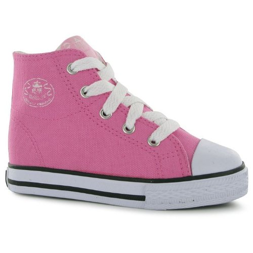 b0bea9e7f530 Dunlop Kids Childrens Junior Footwear Infant Canvas High Top Trainers   Amazon.co.uk  Shoes   Bags