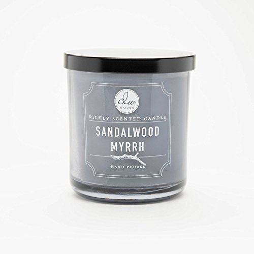 dw home sandalwood myrrh richly scented candle single wick hand poured 4 oz fragrance for lady. Black Bedroom Furniture Sets. Home Design Ideas