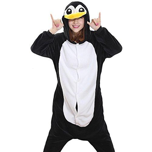 Afoxsos Adult Penguin Onesies Sleepwear Unisex Animal Pajama