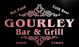 u17429-r GOURLEY Family Name Gift Bar & Grill Home Beer Neon Light Sign