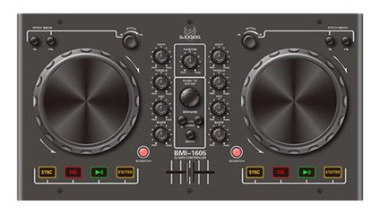 Blackmore BMI-1605 Fully Digital USB Based DJ Midi Controller: MAC & PC Compatible