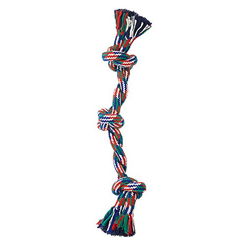 Top Paw Double Rope 3 Knot Heavy Duty Large Dog Tug Chew Toy