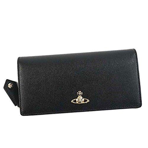 ヴィヴィアン ウエストウッド Vivienne Westwood 二つ折り長財布 ブラック SAFFIANO 51060025-40153-N460 [並行輸入品] B07BXYK3LM