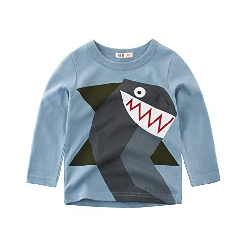 r Kids Baby Boy Cartoon Print Animal Cotton Undershirt Bottoming T-Shirt (B, 4-5 Years) ()