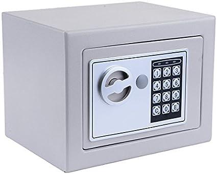Hopekings Caja Fuerte Pequeña, 230 x 170 x 170 mm Caja Fuerte Electronica,Cajas Fuertes Empotrables con 4 Pilas y 2 Llaves de Emergencia, Plateado: Amazon.es ...