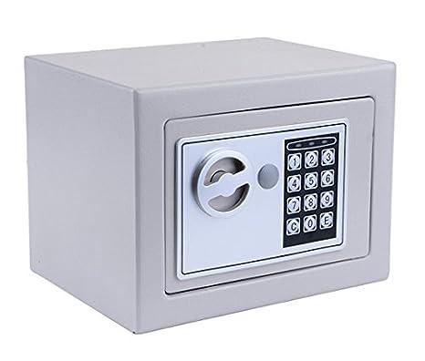 Hopekings Caja Fuerte Pequeña 230X170X170 mm, Caja Fuerte Secreta Con 4 Pilas, Plateado: Amazon.es: Bricolaje y herramientas