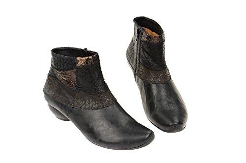 Think! AIDA Stiefelette - botas de cuero mujer negro