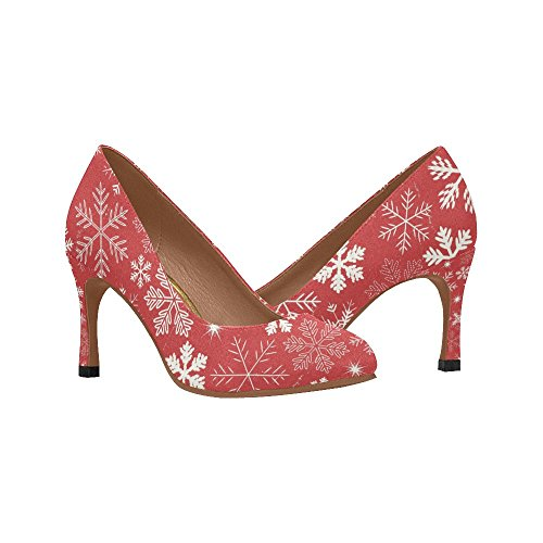 Interestprint Womens Mode Hög Klack Klänning Pump Skor Multi 4
