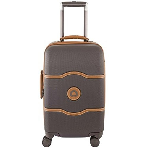 delsey-luggage-chatelet-hard-21-inch-carry-on-4-wheel-spinner-luggage-brown-21