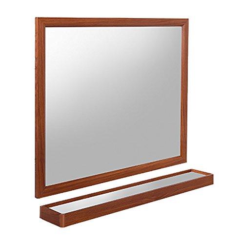 GUOWEI Mirror Rectangle High Definition With Shelf Aluminum Framed Wall-mounted Bathroom Makeup -