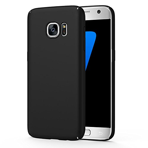 Galaxy S7 Case, Sincase Snug-Fit Slender [Non Slip] Ultra-Thin Side to Side Edge Coverage Bumper [Super Lightweight] Superior Coating Hard PC Cover for Samsung Galaxy S7, Black