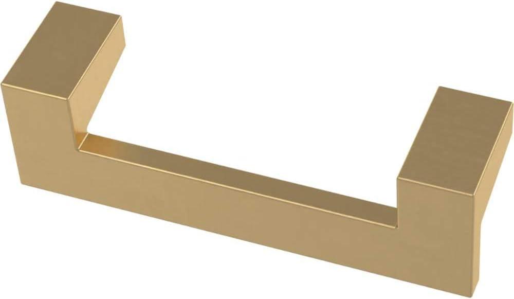 128mm Franklin Brass P40829K-117-C Angled Kitchen or Furniture Cabinet Hardware Drawer Handle Pull 10-Pack Brushed Brass 5-1//16-Inch