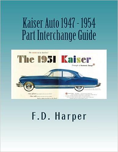 Auto Parts Interchange >> Kaiser Auto 1947 1954 Part Interchange Guide F D Harper