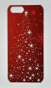 Christmas Tree 001 Iphone 5 5S Hard Shell with Transparent Edges Cover Case by Lilyshouse
