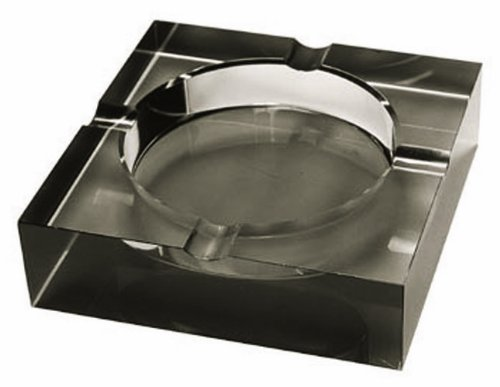 - Quality Importers Ashtray 4 Cigar Crystal Ashtray, Opaque Black